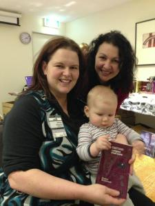 Bubs and I with Kirstyn and the first copy of Kirstyn's new book, personally inscribed!