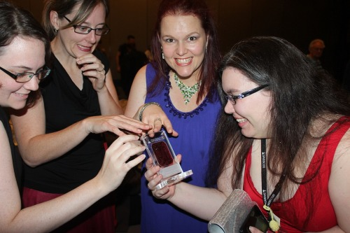 Some of the Snapshot team get avaricious about our Tin Duck. Photo by Cat Sparks.